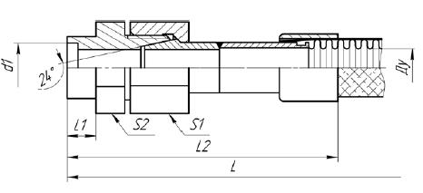 К81. МРВД с арматурой «Соединение с адаптером с наружной резьбой и коническим уплотнением»