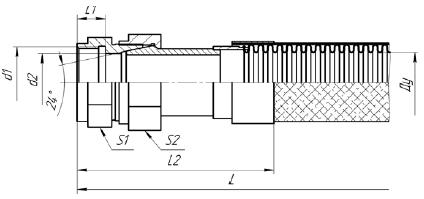 К82. МРВД с арматурой «Соединение с адаптером с наружной резьбой и плоским уплотнением»